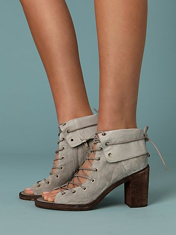 Corset Heels at Free People Clothing Boutique :  rubber sole brown neutrals open toe