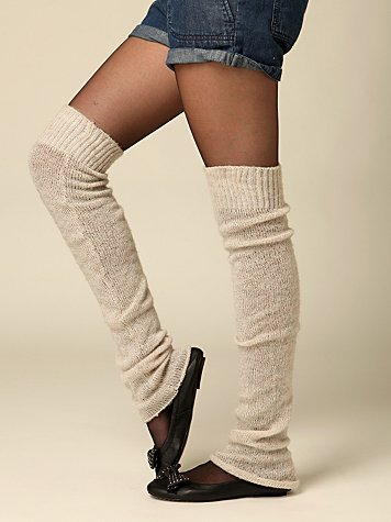 Soft Sparkle Legwarmer :  wool chic fashion warmers