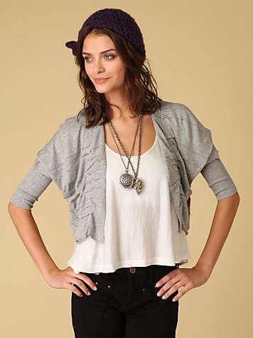Cropped Open Cardigan :  cropped cardi fashion top