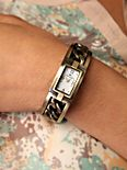 Antique Brass Linked Cuff Watch