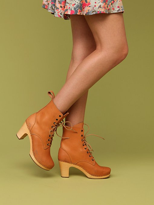 Heeled Lace Up Jodhpur by Swedish Hasbeens