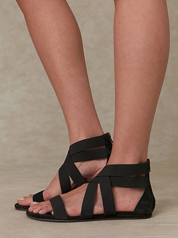 Liv Stretch Sandal at Free People Clothing Boutique :  rounded toe womens elastic summer