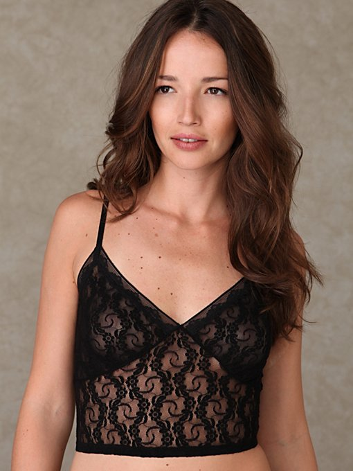 Solid Lace Crop Bralette