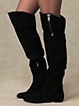 James Suede Over the Knee Boot with Zipper