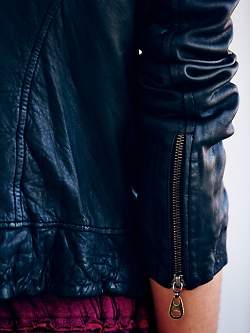 Doma Hooded Biker Jacket