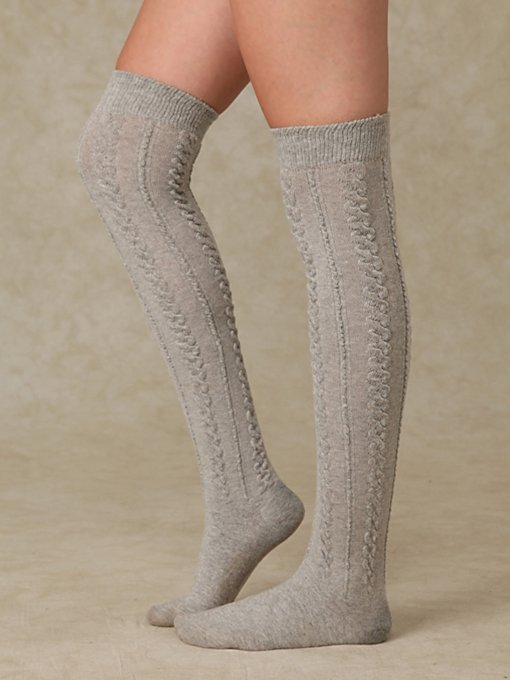 Aran Sheer Cable Tall Sock