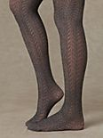 Heathered Pointelle Tights