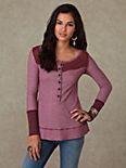 We the Free Long Sleeve Two Tone Tunic