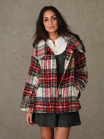 Perfectly Plaid Coat