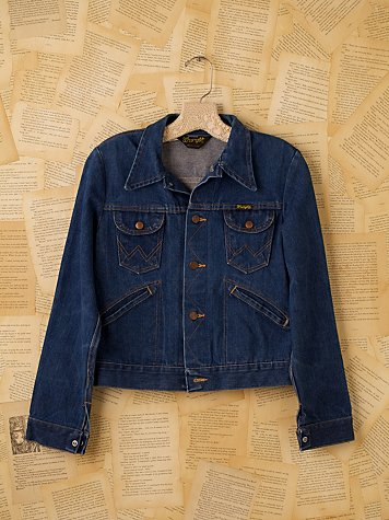 Free People Vintage Wrangler Jean Jacket