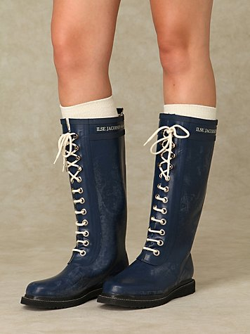 Isle Lace Up Rain Boots at Free People Clothing Boutique :  womens lace up lined rain boots