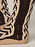 Chevron Tall Sock Boot