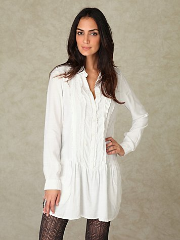 Tuxedo Shirt Dress
