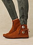 Two Button Bootie Moccasin
