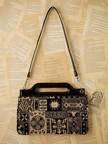 Free People - Vintage Small Carpet Bag :  handbag bag carpet bag vintage