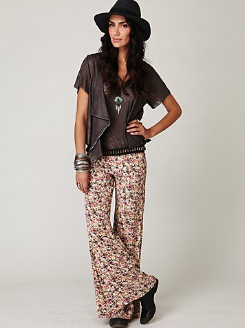FP-1 Floral Fields Wideleg Pant at Free People Clothing Boutique :  pants fp1 wideleg wide leg
