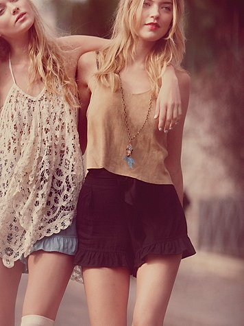 Big Bow Ruffle Short at Free People Clothing Boutique :  bottoms shorts apparel