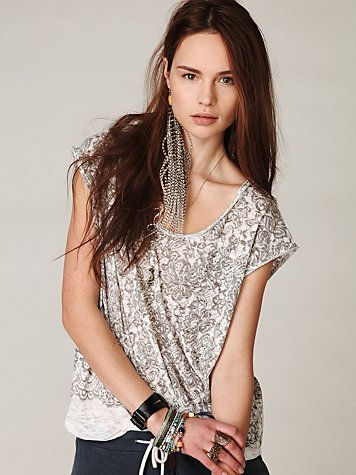 We The Free Burnout Graphic Boxy Tee  at Free People Clothing Boutique