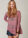 Long Sleeve Ditsy Floral Mix Tunic