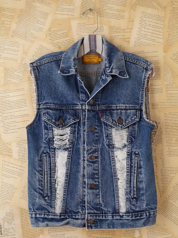 Vintage Custom Denim Vests at Free People Clothing Boutique from freepeople.com