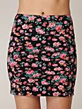 Large Vintage Floral Scrunch Skirt