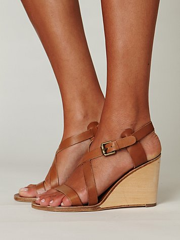 Lena Cross Front Wedge