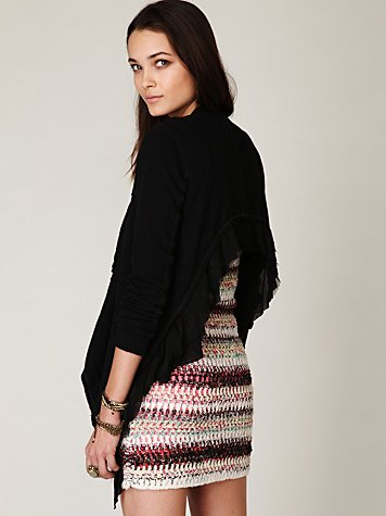 Cropped Back Layered Jacket