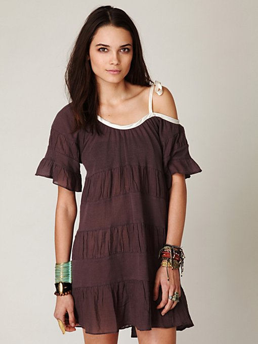 Textured Hi-Low Tunic Dress