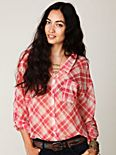 Centered Plaid Buttondown