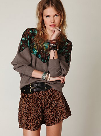 Leopard Printed Skort at Free People Clothing Boutique :  skorts bottoms apparel
