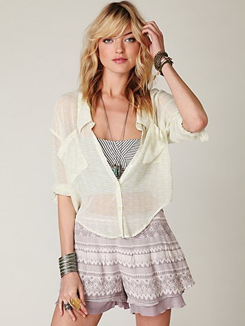 Lost Temple Skort at Free People Clothing Boutique :  skorts bottoms apparel