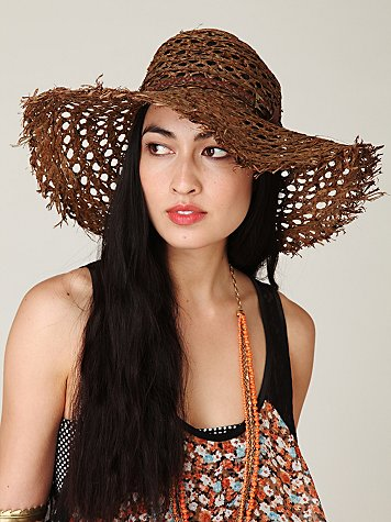 Drifter Beach Hat at Free People Clothing Boutique :  hats accessories straw