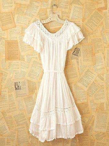 Vintage Gauze Peasant Dress at Free People Clothing Boutique from freepeople.com