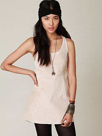 Suede Racerback Tank Dress
