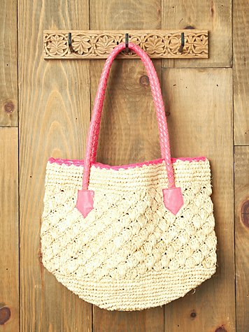Sirena Raffia Tote at Free People Clothing Boutique from freepeople.com