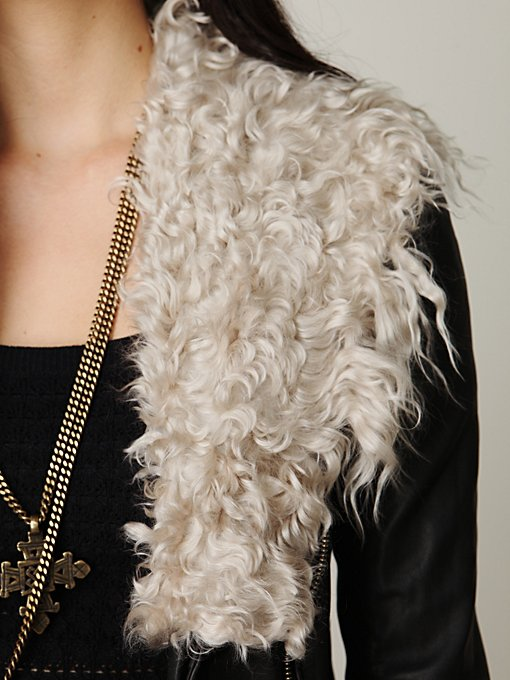Detachable Fur Leather Jacket