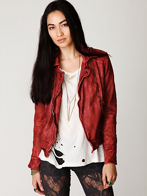 Muubaa Vintage Leather Jacket in sale-all-sale