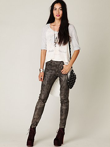 Muuba Washed Seamed Leather Pant