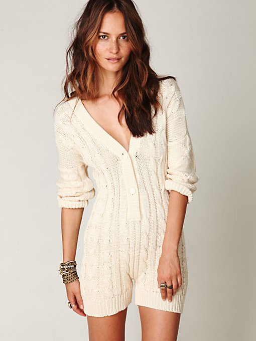 Cable Knit Playsuit