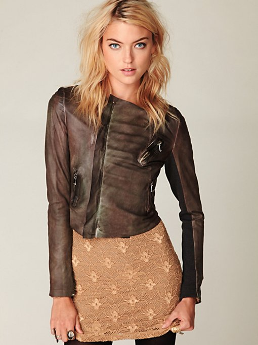 Blur Ria Leather Jacket
