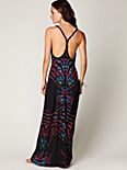 Printed Braid Back Tank Maxi Dress