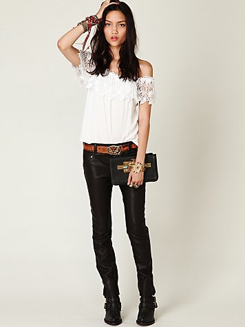 Free People FP Skinny Vegan Leather Pant