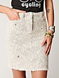High Waist Textured Skirt