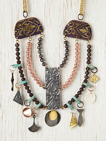 Copper Charm Collar