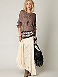 Solid Pieced Maxi Skirt