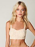 Metallic Lace Cropped Bra