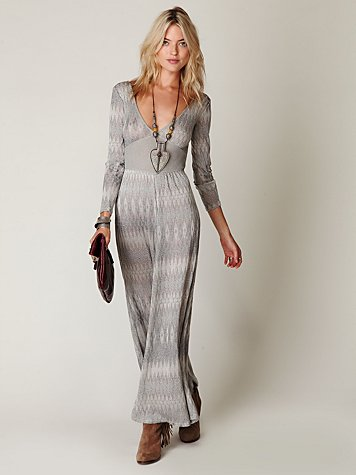 Diamond Stripe Long Romper