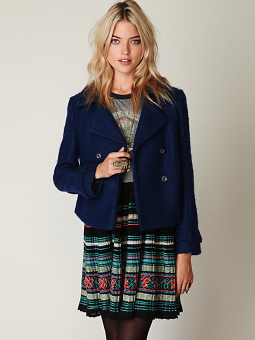 Royal Blue Peacoat