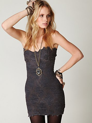 Scallop Lace Tube Dress
