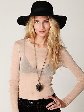 Glitter Mesh Long Sleeve Layering Top